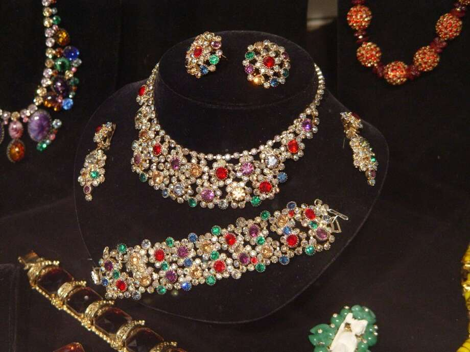 Vintage costume jewelry from thecollection of Linda Smetak is on display at Ellen Noel ArtMuseum. Photo: Courtesy Photo