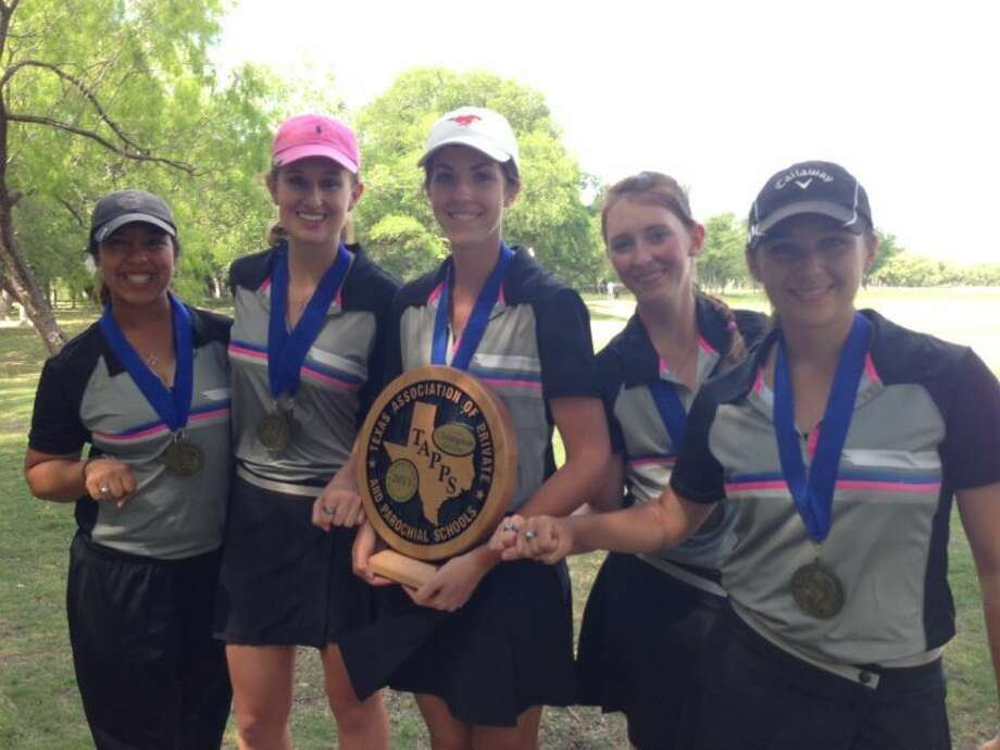 The Midland Christian girls golf team won the TAPPS 4A Girls State Championship on Tuesday at Twin Rivers Golf Course in Waco. From left to right, Christen Curnutte, Lynley Lewis, Sara Calvin, Loren Cheatham, Madison Warpula.