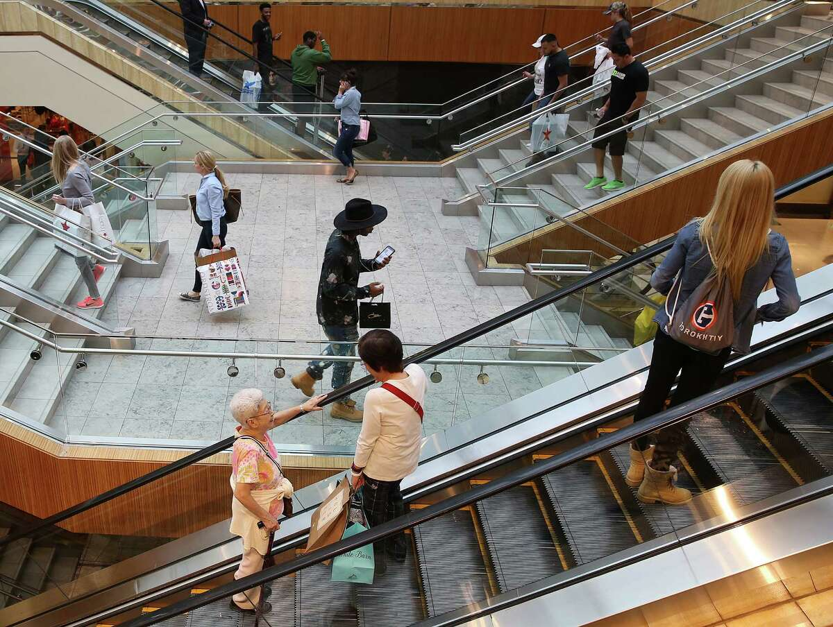Shoppers make their way through the Galleria.