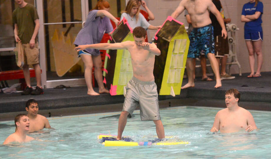 """Walk on Water"" event Saturday at COM Aquatics Center. James Durbin/Reporter-Telegram Photo: JAMES DURBIN"