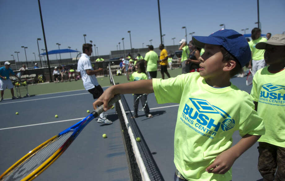Grand opening of the Bush Tennis Center Saturday at the Center. James Durbin/Reporter-Telegram Photo: JAMES DURBIN