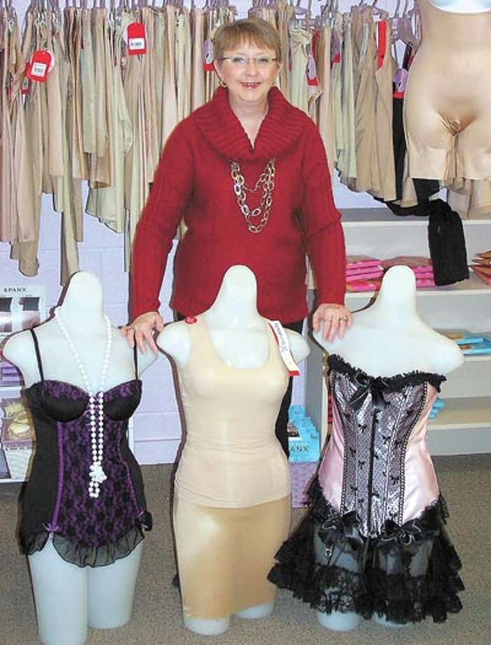 Pennyrich Shop owner Sharon Wilcox has a great selection of Spanx, corsets, bras, mastectomy products, swimsuits and more. Pennyrich is at 311 Dodson Street in Old Town Midland.