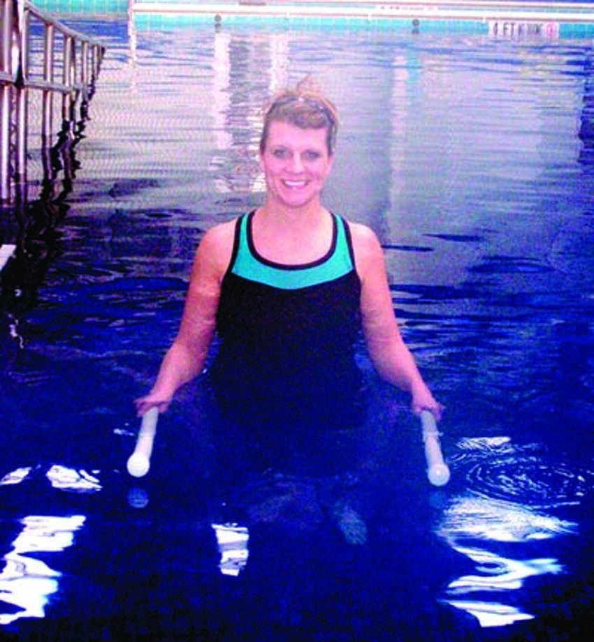 THE WATER'S FINE COM physical therapist Nicole MacDonald says aquatic therapy relieves joint stress while allowing patients to rebuild muscle strength. The phone number for COM Physical Therapy is 618-9952.