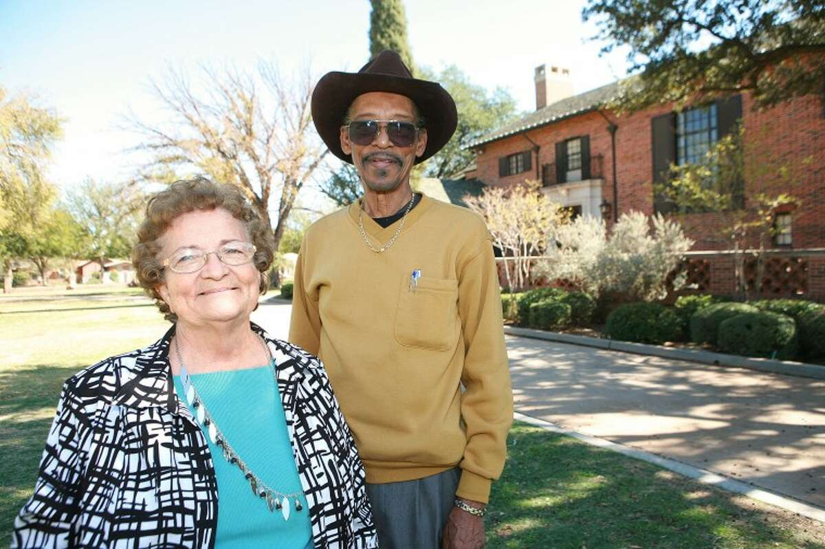 Metta W. Preas, left, spent some of her 31-years working with Ellis Brown at the Museum of the Southwest. Cindeka Nealy/Reporter-Telegram
