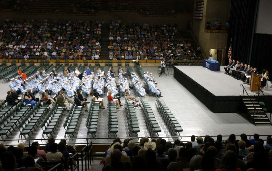 Greenwood High School graduation ceremony Friday at Chaparral Center. James Durbin/Reporter-Telegram Photo: JAMES DURBIN