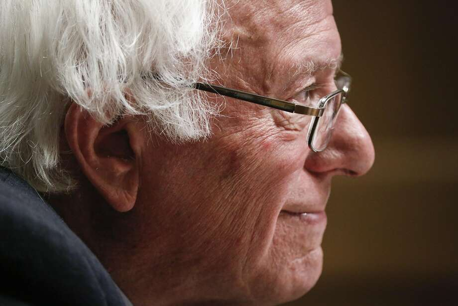 """Sanders told the board that he would not tack to the center if he wins the Democratic nomination because """"good policy is good politics."""" Photo: Russell Yip, The Chronicle"""