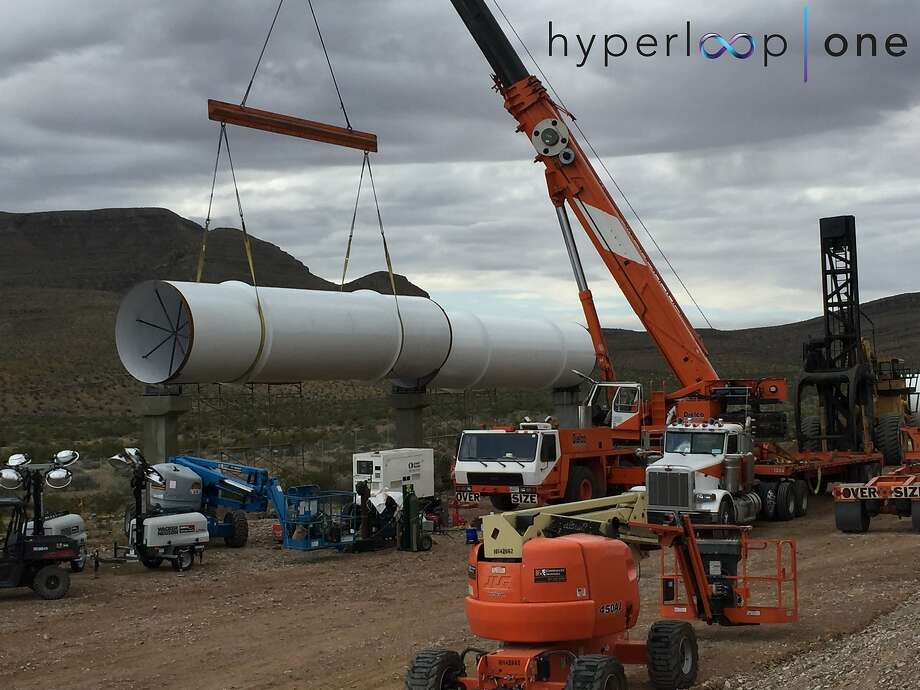 Startup Hyperloop One, trying to make Elon Musk's high-speed transportation concept a reality, plans a test of its technology Wednesday in Nevada. Photo: Photo Courtesy Hyperloop One