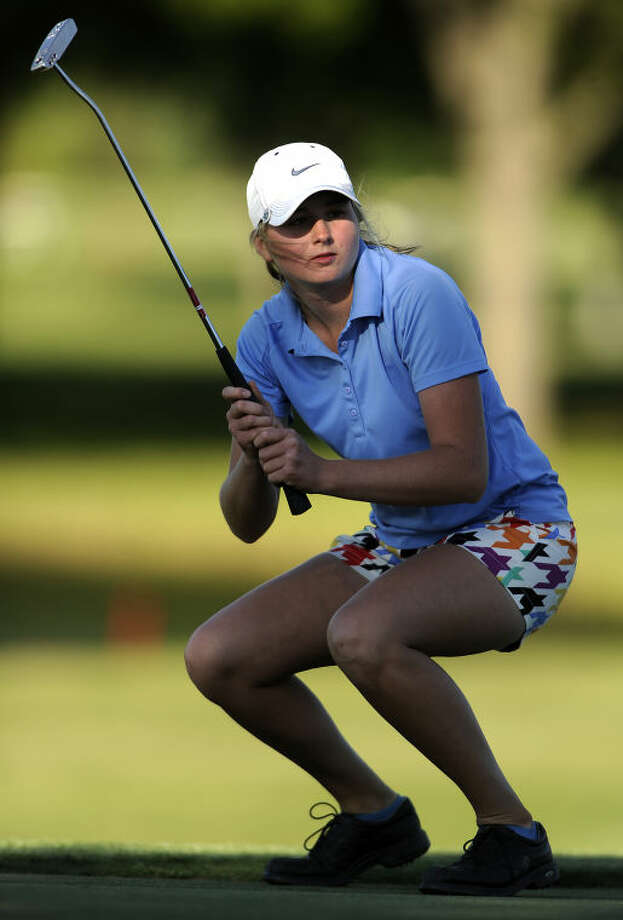 Thomas Metthe/Reporter-News Andrews Sarah Black, seen here during the Class 3A state tournament last, and her teammates competed at the Antigua National High School Invitational in Andrews this past weekend. Photo: Thomas Metthe