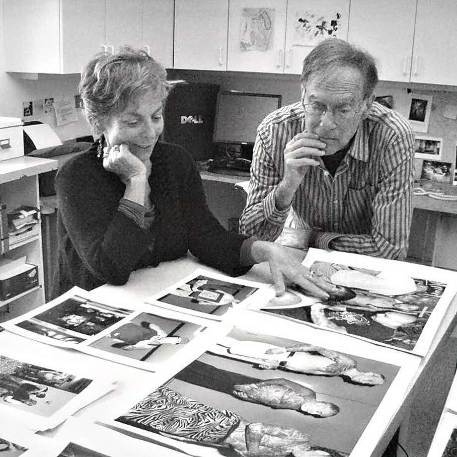 Eva Lipman and Ken Graves study images in El Sobrante, in 2009. Photo: Courtesy Eva Lipman