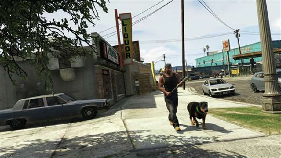 "This publicity photo released by Rockstar Games shows a screen shot from the video game, ""Grand Theft Auto V."" (AP Photo/Rockstar Games) Photo: HOEP / Rockstar Games"