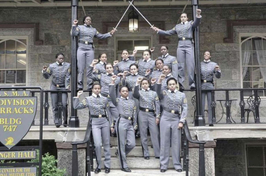 Sixteen black female cadets took a picture raising their fists at the U.S. Military Academy at West Point. The school announced it will not punish them.  Photo: HONS / Obtained from Twitter
