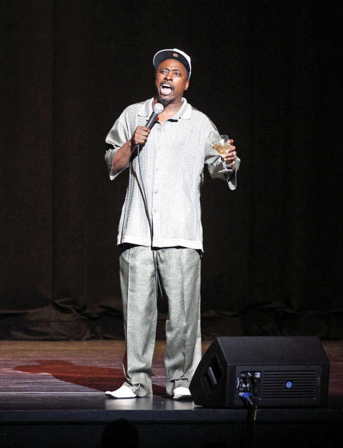 Comedian Eddie Griffin performs at the Wagner Noel Performing Arts Center on Thursday. James Durbin/Reporter-Telegram Photo: JAMES DURBIN