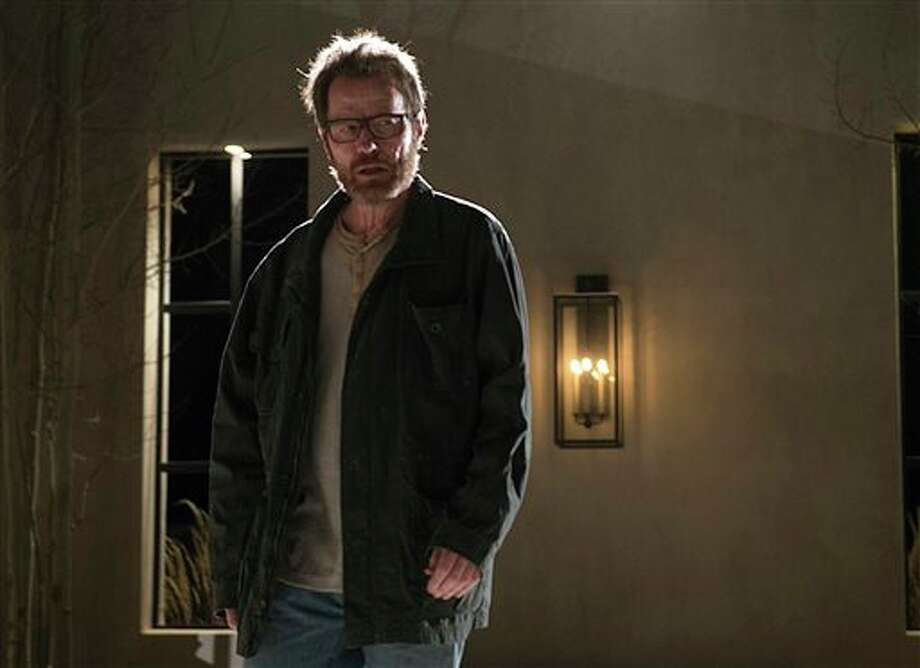 "This image released by AMC shows Bryan Cranston as Walter White in a scene from the series finale of ""Breaking Bad, airing Sunday, Sept. 29, 2013. (AP Photo/AMC, Ursula Coyote) Photo: Ursula Coyote / AMC"