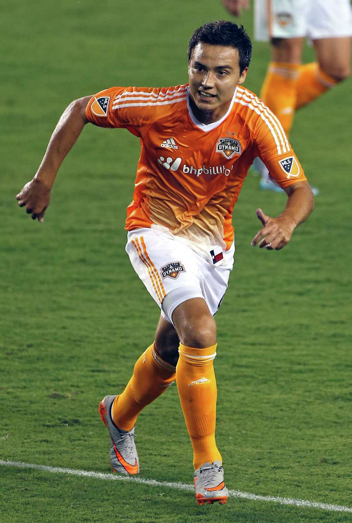 Houston Dynamo forward Erick Torres during the second half of MLS game action against the San Jose Earthquakes at BBVA Compass Stadium Saturday, Aug. 8, 2015, in Houston. ( James Nielsen / Houston Chronicle )
