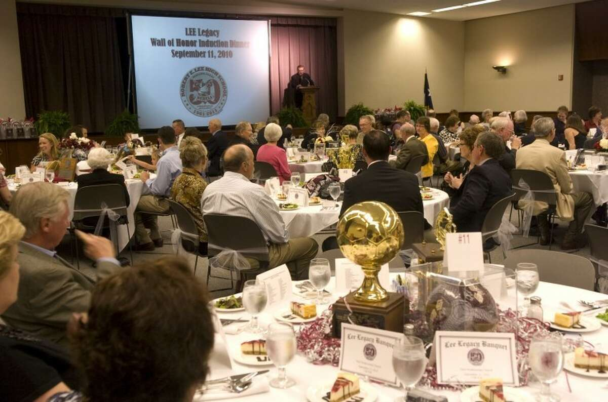 (File Photo) The first Lee Legacy Wall of Honor Banquet was sold out Saturday night as inductees, family and friends came to help celebrate Lee High's 50th Anniversary. Photo by Tim Fischer/Midland Reporter-Telegram