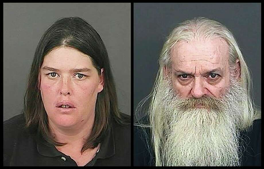 This photo combo of photos provided by the Office of the Denver District Attorney's Office shows Lorinda Bailey, left, and Wayne Sperling. Bailey and Sperling, the Denver couple accused of starving their four young sons and keeping them in a filthy apartment strewn with cat feces, urine and flies, made their first court appearance Tuesday, Oct. 8, 2013, and were advised of the felony child abuse charges against them. (AP Photo/Denver District Arttorney's Office) Photo: Uncredited / Denver District Attorney's Office