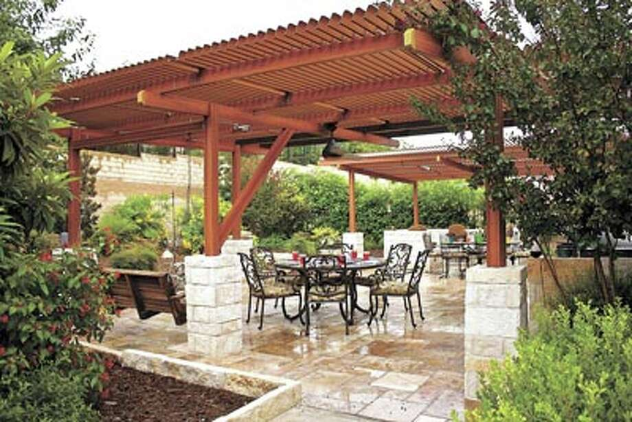 Shade when it's hot, sunshine when it's not—that's what Solara adjustable patio covers offer you. Talk to the friendly folks at American Home Improvement to learn more. Their phone number is 550-7224. Photo: Valerie Marchiori