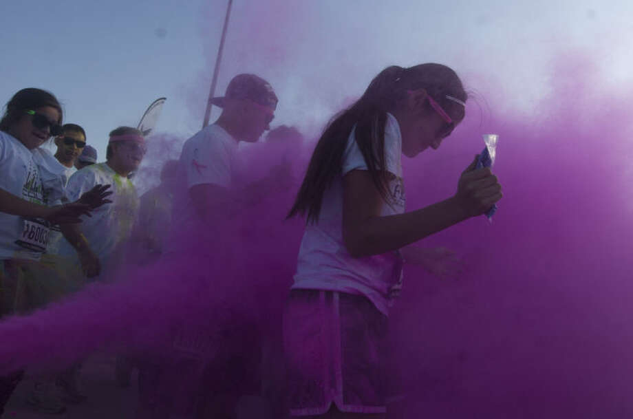 Color Vibe 5K Run on Saturday at the Scharbauer Sports Complex in Midland. James Durbin/Reporter-Telegram Photo: JAMES DURBIN