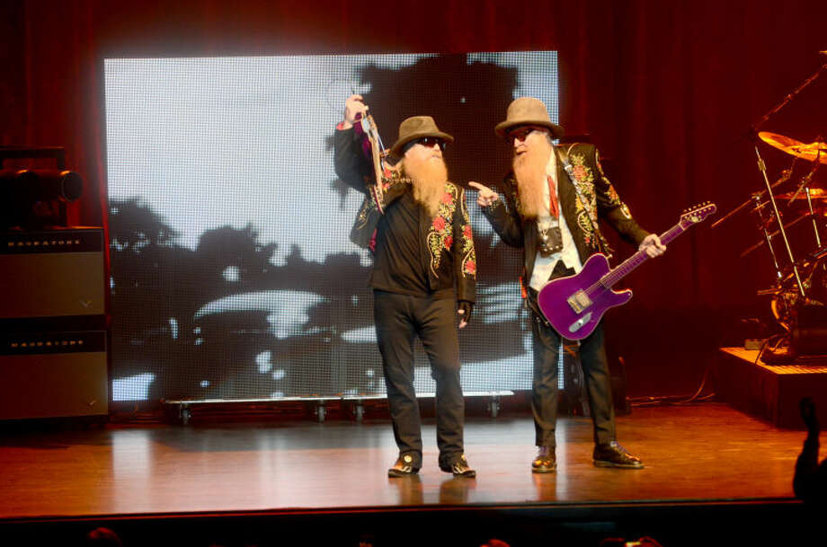 The band ZZ Top performs at the Wagner Noel Performing Arts Center on Tuesday. James Durbin/Reporter-Telegram Photo: JAMES DURBIN
