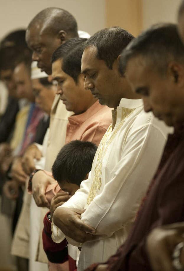 Muslims gather for prayer Tuesday at the Muslim Association of West Texas to celebrate Eid al-Adha. Tim Fischer\Reporter-Telegram Photo: Tim Fischer