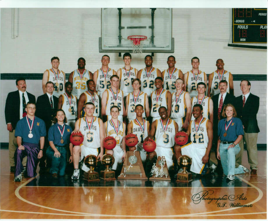 """Team members:Patrick Anderson, Jay Christian, Chris Cox, Josh Fernau, Randy Gardner, Camar Jackson, Melvin Jackson, Geoffrey Jameson, Blake Johnston, Antoine Lathan, Kirby Lemons, Taylor Moody, Jessie Nicholson, Ross Nobles, Kris O'Brien, Chris Oldham, Erik Pettersson, Charles Tatum, Brent Winter, Jason WilliamsCoaches: Jack Stephenson, Craig Raughton, George Riebe, Rusty FrazierManagers: Brent Grizzle, Katie Green, Shawna HaleRecord: 36-2Accomplishment: Won 1997-98 Class 5A State Boys Basketball ChampionshipAbout the 1998 Bulldogs: The Bulldogs were expected to be one of the state's top teams entering the 1997-98 season, including earning the top preseason Class 5A ranking by Texas Hoops prior to the season. The Bulldogs went on to compiled a 36-2 record, which was later be adjusted to 37-1 after a loss to Odessa Permian was changed to victory because of a forfeit. ... The Bulldogs' lone loss on the court was to San Antonio Taft during a Thanksgiving weekend tournament, but they then went on to beat Taft in the Class 5A state title game 63-51. Midland High was leading 40-17 at halftime of that game. ... As many as five players on that team went on to play Division I basketball and football, and former player Charles Tatum is now the boys basketball coach at Midland High.1998 MHS coach Jack Stephenson on the Bulldogs: """"These kids, they just melded together. I don't think we've ever had any problems what so ever and we had some very good players. Anytime a gym was open they were there, and we had some talent, I'm going to tell you. We were pretty good and that was one of the best teams they'd ever seen in Austin, Texas. We had guys that would dive for the bll, and I don't think we ever had any jealously, envy or anything like that. We all had one goal.""""MHS junior Jay Christian on the Bulldogs: """"I was talking to (assistant coach Craig) Raughton and"""