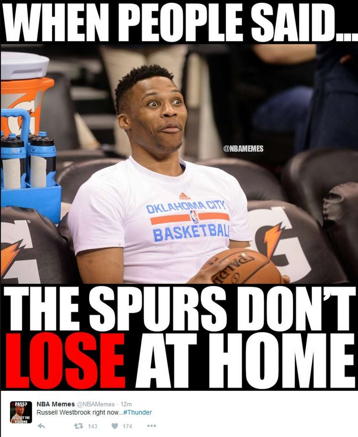 When people said Spurs don't lose at home