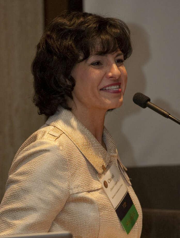 Texas Railroad Commissioner Christi Craddick speaks Thursday morning at the annual Permian Basin Petroleum Association meeting. Tim Fischer\Reporter-Telegram Photo: Tim Fischer