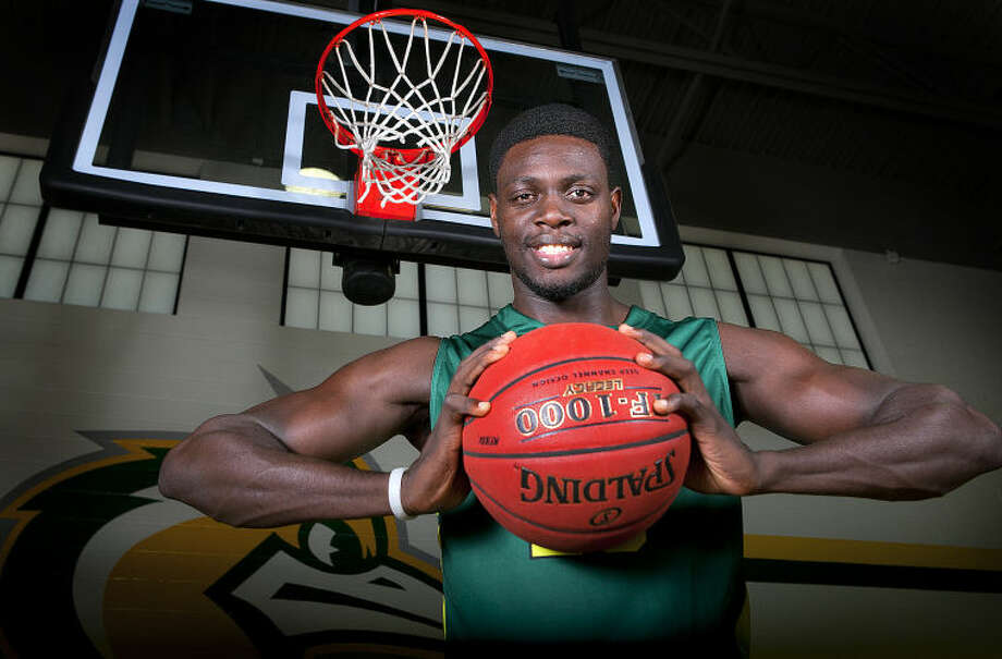 Midland College men's basketball forward Herve Aholode poses for a portrait Wednesday at Midland College. James Durbin/Reporter-Telegram Photo: JAMES DURBIN