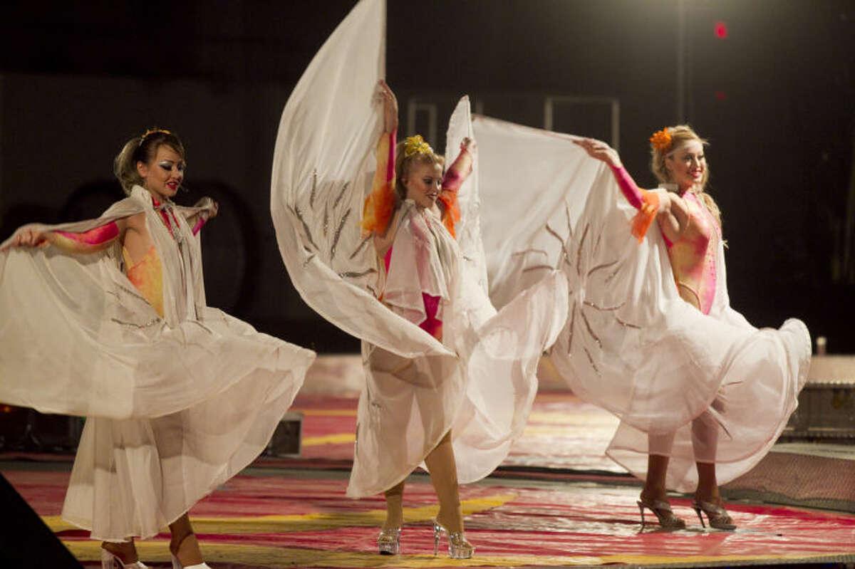 Shrine Circus at Midland Horseshoe Arena on Wednesday. James Durbin/Reporter-Telegram