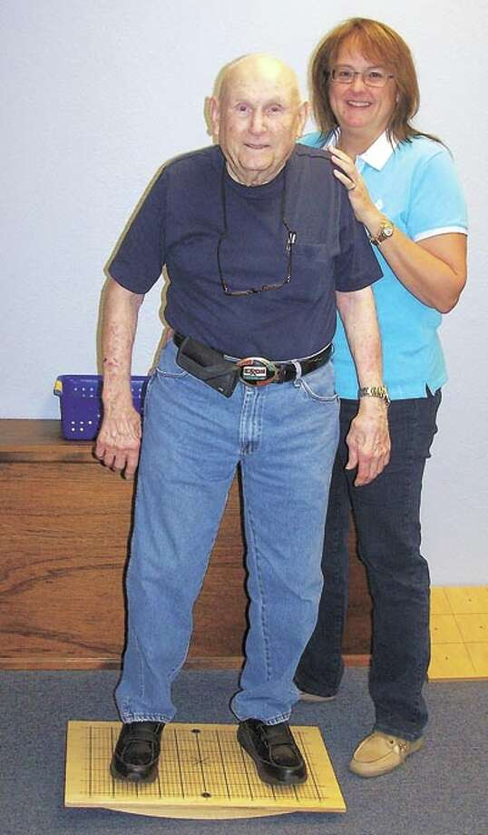 Octogenarian B. W. Haskins went to Missy Dwyer at In Balance to help him improve his walking. What he found was not only that he walked better, without falling, but he also saw improvement in his visual acuity, his thought processing and other aspects. Call Missy at 685-3556 to learn how she could help you. The program helps people from ages 3 on up.