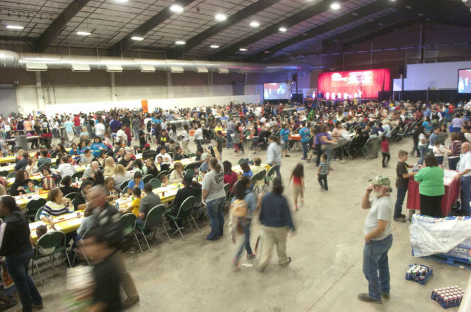 Feast of Sharing on Friday at Horseshoe Arena. James Durbin/Reporter-Telegram Photo: JAMES DURBIN