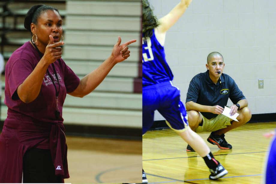 New Lee girls basketball coach Monica Ramirez, left, and new Midland High girls basketball coach Wes Torres, right.