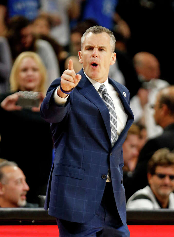 SAN ANTONIO,TX - MAY 10:  Head coach Billy Donovan of the Oklahoma City makes a point against the San Antonio Spurs in game Five of the Western Conference Semifinals during the 2016 NBA Playoffs at AT&T Center on May 10, 2016 in San Antonio, Texas.  NOTE TO USER: User expressly acknowledges and agrees that , by downloading and or using this photograph, User is consenting to the terms and conditions of the Getty Images License Agreement. Photo: Ronald Cortes, Getty Images / 2016 Getty Images