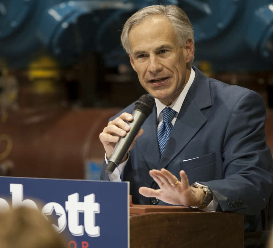 (File Photo) Texas AG Greg Abbott speaks Thursday at Compressor Systems, during a campaign stop for his run for Texas governor. Tim Fischer\Reporter-Telegram Photo: Tim Fischer