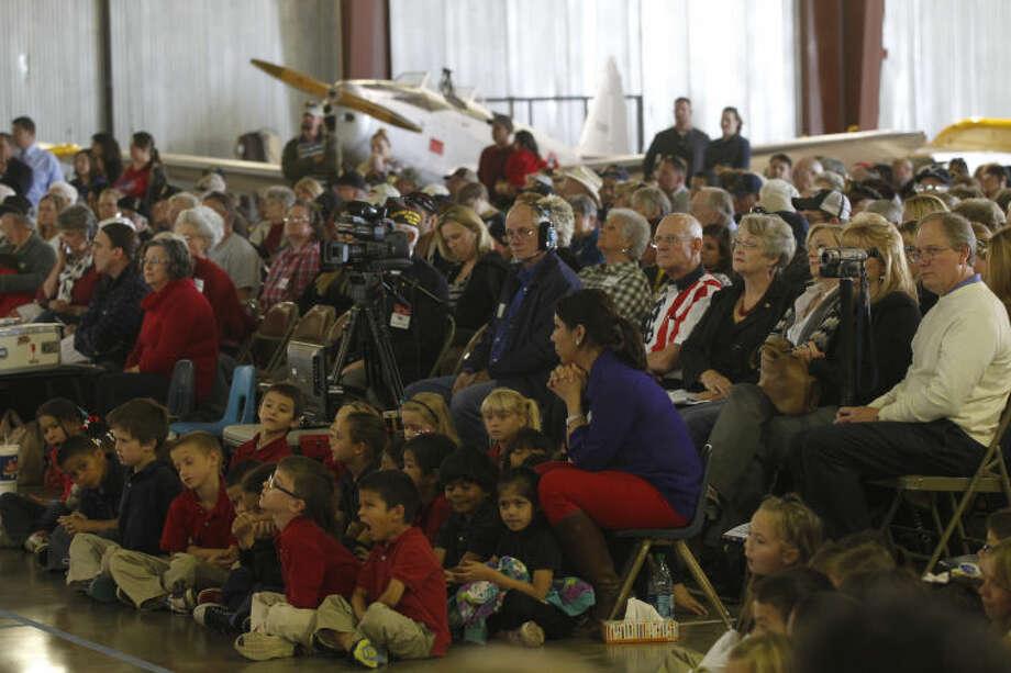 Rusk Elementary's annual Veteran's Day program Thursday at the CAF. James Durbin/Reporter-Telegram Photo: JAMES DURBIN