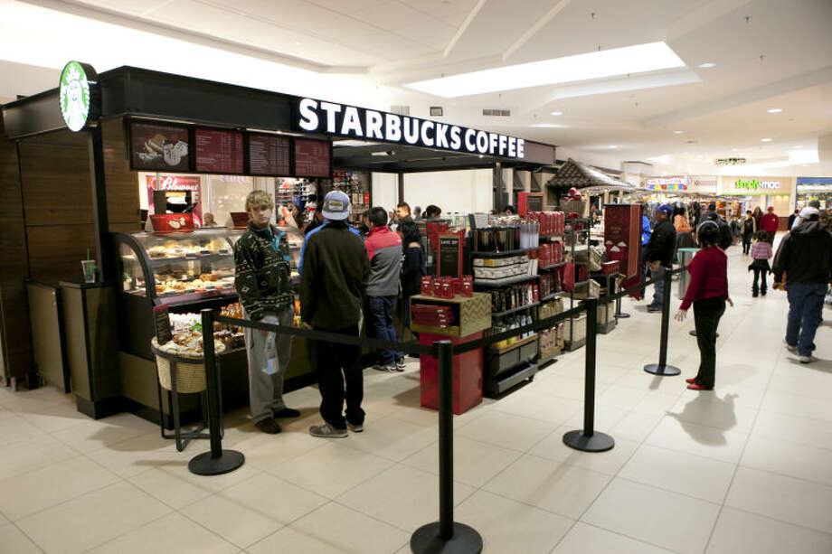Photo of the Starbucks kiosk at Midland Park Mall taken Nov. 23. James Durbin/Reporter-Telegram Photo: JAMES DURBIN