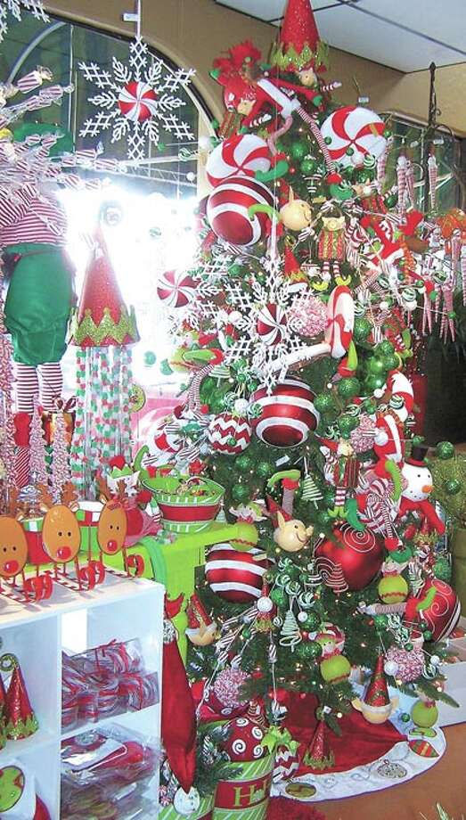 Candy and Christmas are a natural combination—as you see it at Flowerland. Christmas decorations are 50 percent off now through December 24 at Flowerland, 413 Andrews Highway.