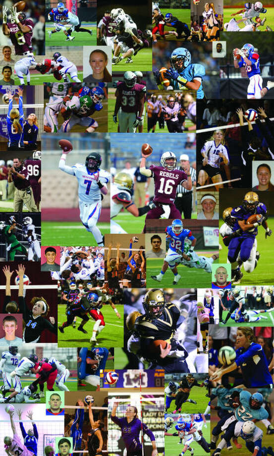 A collage of the athletes from Midland County and around the area that earned first team or superlative all-district honors this fall.