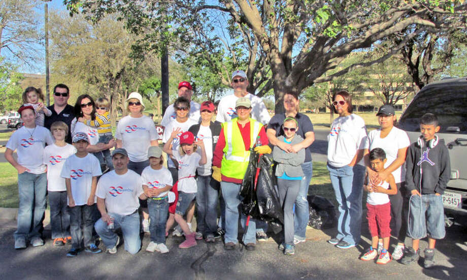 (File Photo) Group photo of volunteers who collected more than 25 bags of trash during a citywide cleanup for Keep Midland Beautiful on Saturday. Photo provided by Hollen Wheeler Photo: MIDLAND REPORTER-TELEGRAM