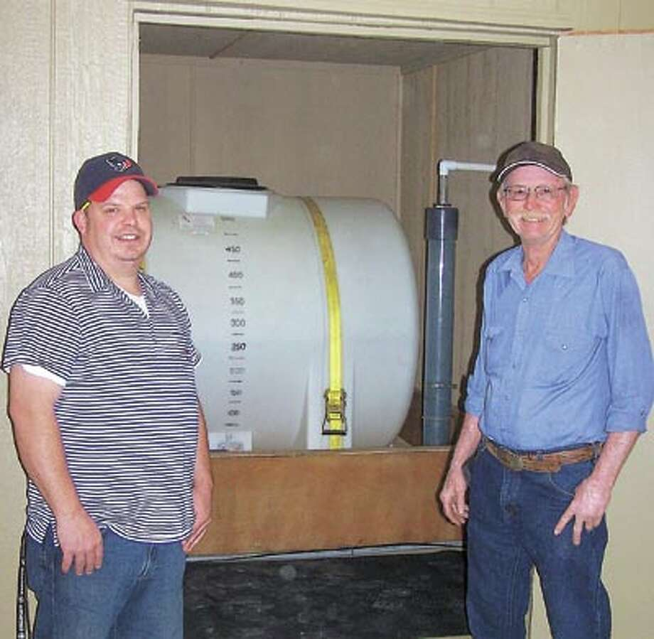 The Super Scrubber System cleans, hydrocarbons, paraffin and other clogging substances from H-pumps, other pumps and injection systems using a patented process. John May, left, and John McLemore can help you save repair costs and down time. Call John May at 432-413-7153 or 432-580-4806.