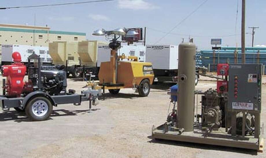Generators, light towers and small gas compressors are available for sale or rent at UltraQuip, LLC. UltraQuip offers factory-authorized repairs on all equipment they sell. Call them at 432-332-2200.