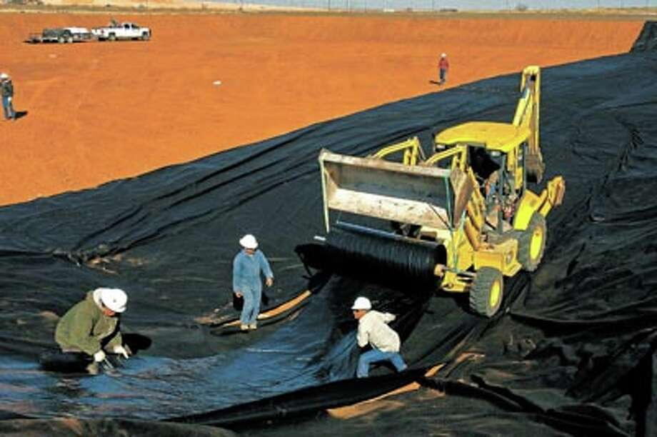 Building frac pits of any size including several acres, installing double liners and leak detection systems are all part of the job for Big D. They also supply lay-flat pipe, huge pumps, booster pumps, generators, light towers and much more for the oilfield. Call Randal Strickland at 432-238-3718 to learn more.