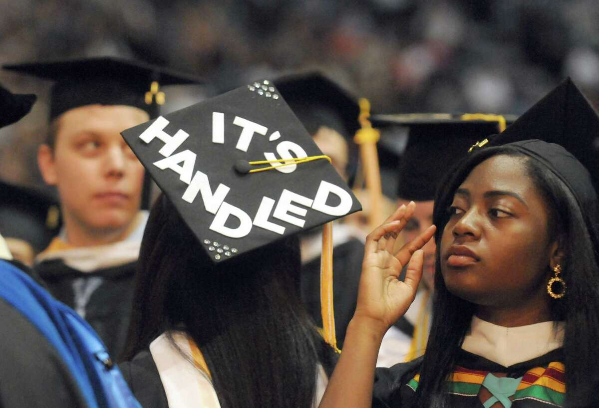 Graduates process during the College of Saint Rose 92nd Commencement at the Times Union Center on Saturday May 9, 2015 in Albany, N.Y. (Michael P. Farrell/Times Union)