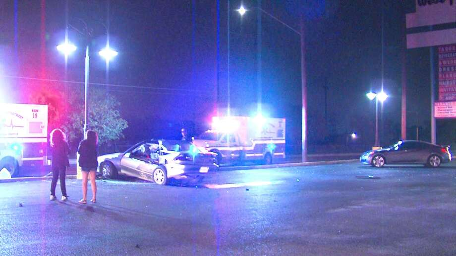 A woman died Tuesday night in a crash on the North Side, according to the San Antonio Police Department. Photo: 21 Pro Video
