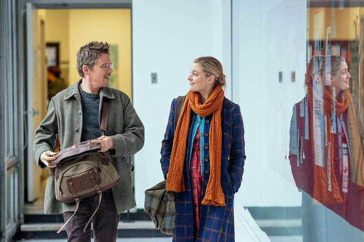 """Ethan Hawke and Greta Gerwig in� """"Maggie's Plan,"""" opening at Bay Area theaters on Friday, May 27. Photo by Jon Pack, Hall Monitor, Inc., Courtesy of Sony Pictures Classics."""