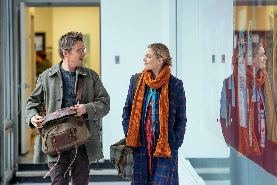 "Ethan Hawke and Greta Gerwig in ""Maggie's Plan,"" opening at Bay Area theaters on Friday, May 27. Photo by Jon Pack, Hall Monitor, Inc., Courtesy of Sony Pictures Classics. Photo: Sony Pictures Classics"