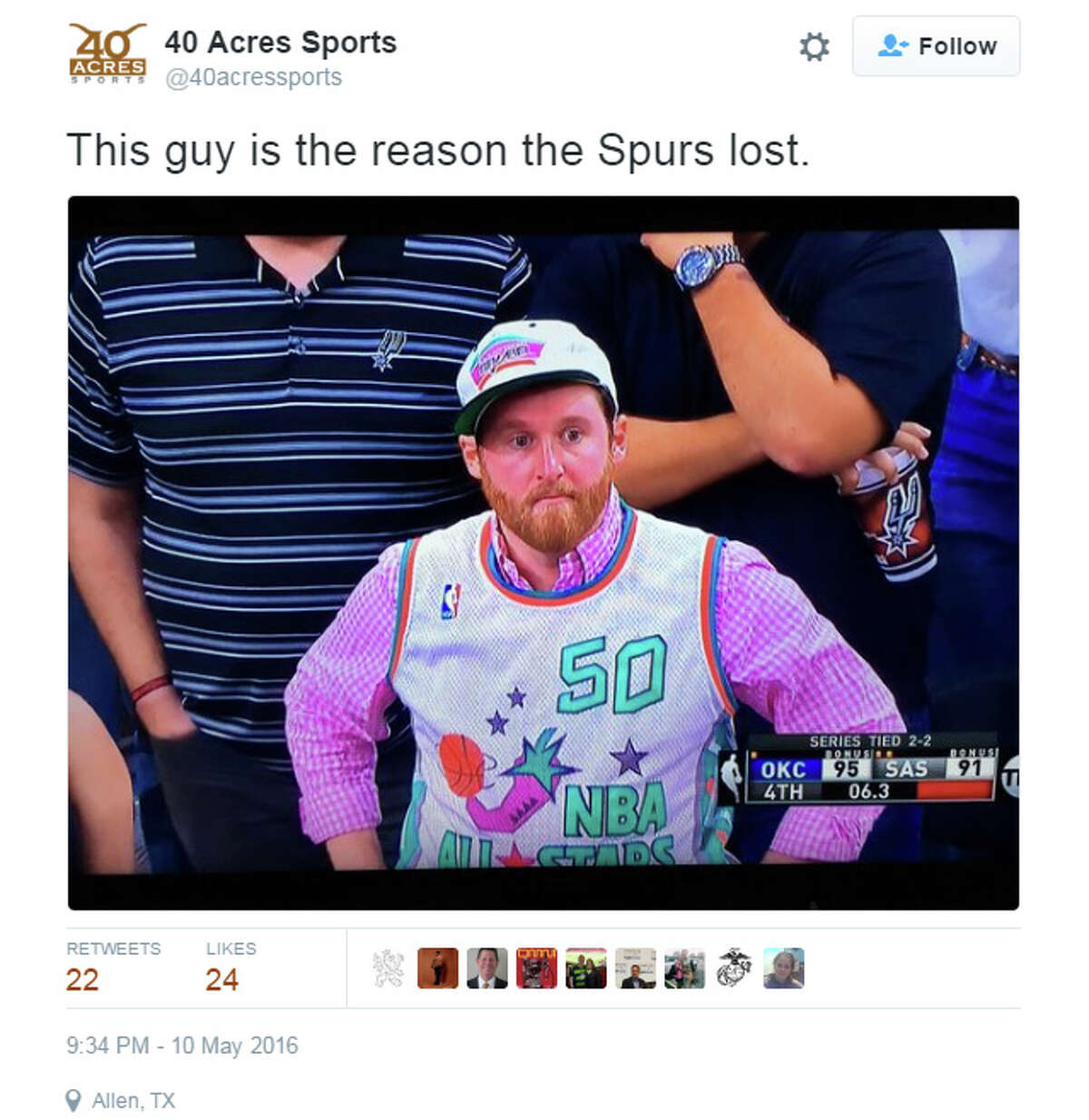 It's this guy's fault Maybe we should just stick to wearing silver and black.Tweet: