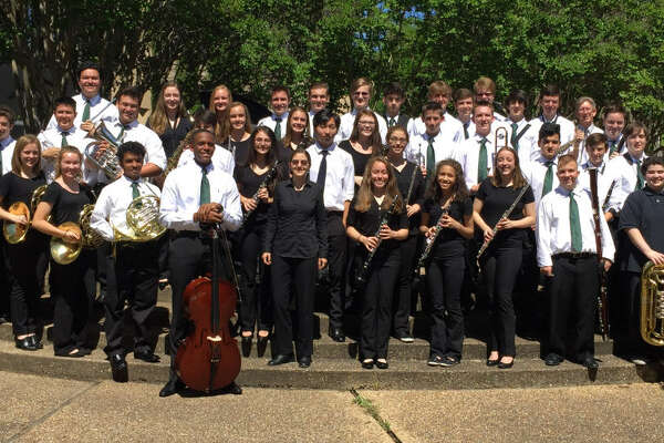 Lutheran South Academy band members celebrate superior ratings at the recent Texas Association of Private and Parochial Schools Large Ensemble contest.