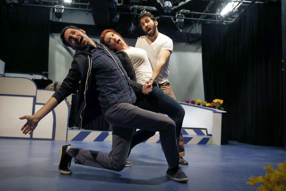 """(left to right) Chris Morrell, Melissa O'Keefe and William Giammona sing during rehearsal for """"On a Clear Day You Can See Forever"""" at New Conservatory Theatre Center in San Francisco, Calif., on Tuesday, May 10, 2016. Photo: Scott Strazzante, The Chronicle"""
