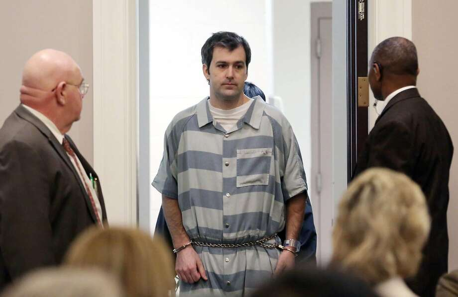 Former North Charleston police office Michael Slager is lead into court in Charleston, S.C. He remains free on bond. Photo: Grace Beahm, Associated Press